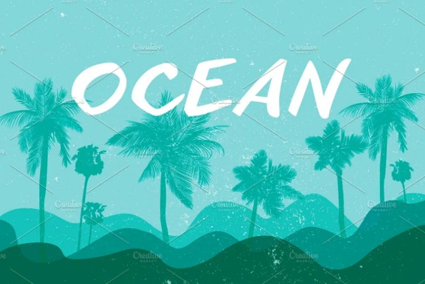 Tropical Oceans Background