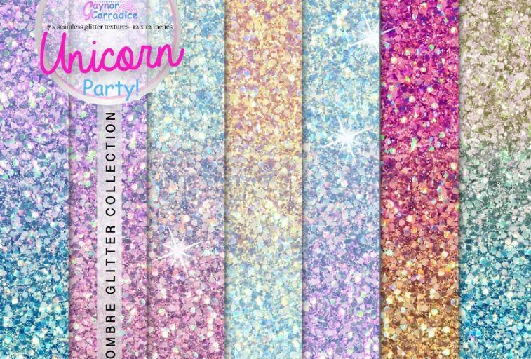 Unicorn Glitter Texture Design