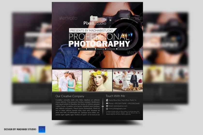 Unique Photography Flyer template