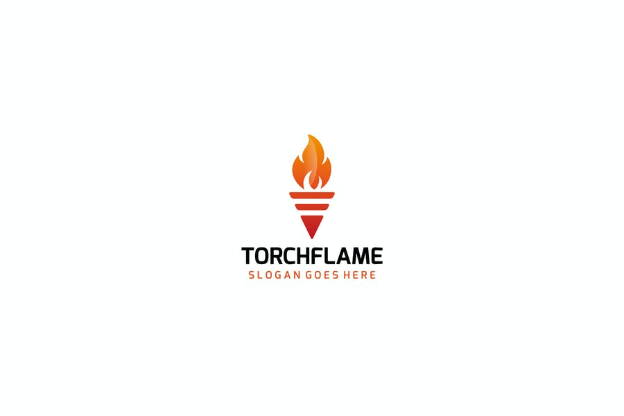 Unique Torchflame Logo Identity