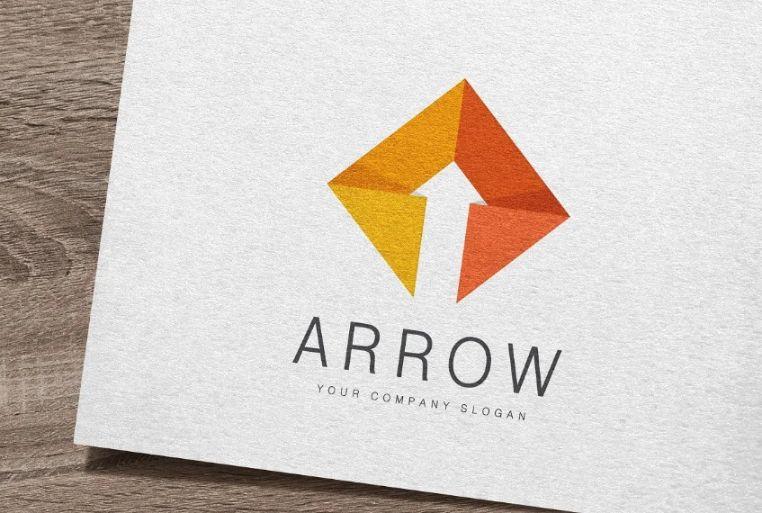 Upward Arrow Logo Design Idea