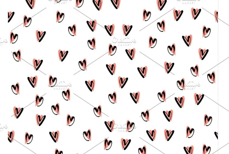 Vector Style Hearts Background