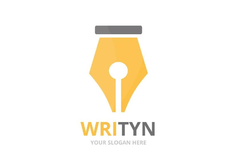 Vector Style Writer Logo Design