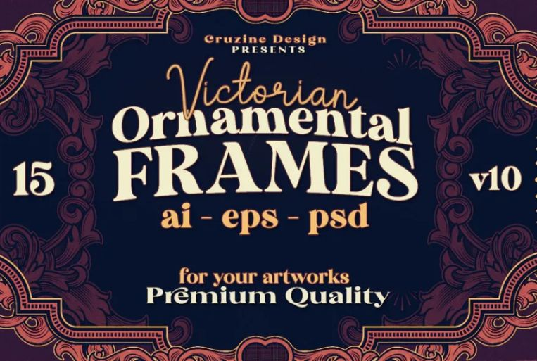 Victorian Ornament Style Frames