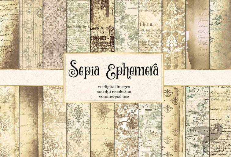 Victorian Sepia Wallpapers Design