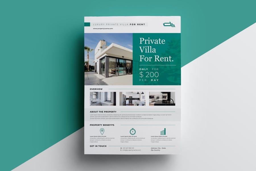 Villa For Sale Flyer