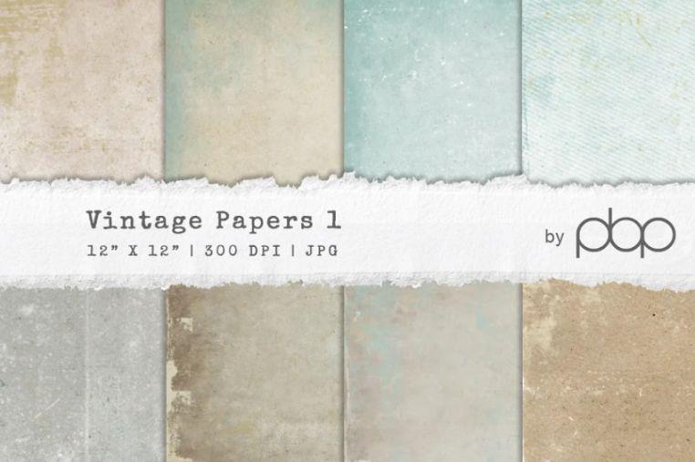 Vintage Digital Papers Background