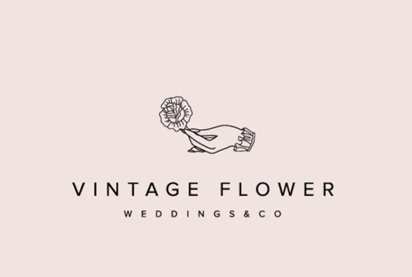 Vintage Flower Logo Identity