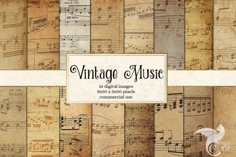 Vintage Music Sheet Texture