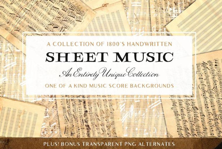 Vintage Music Sheet Textures