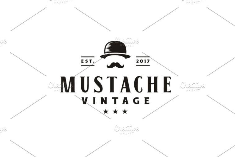 Vintage Mustache Logo Designs