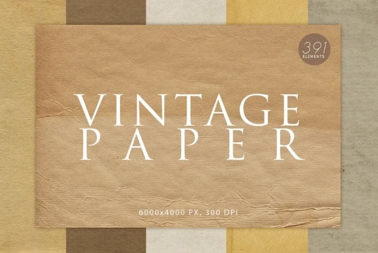 Vintage Paper Backgrounds Bundle