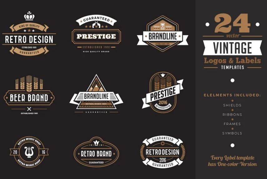 Vintage Restaurant Branding Designs