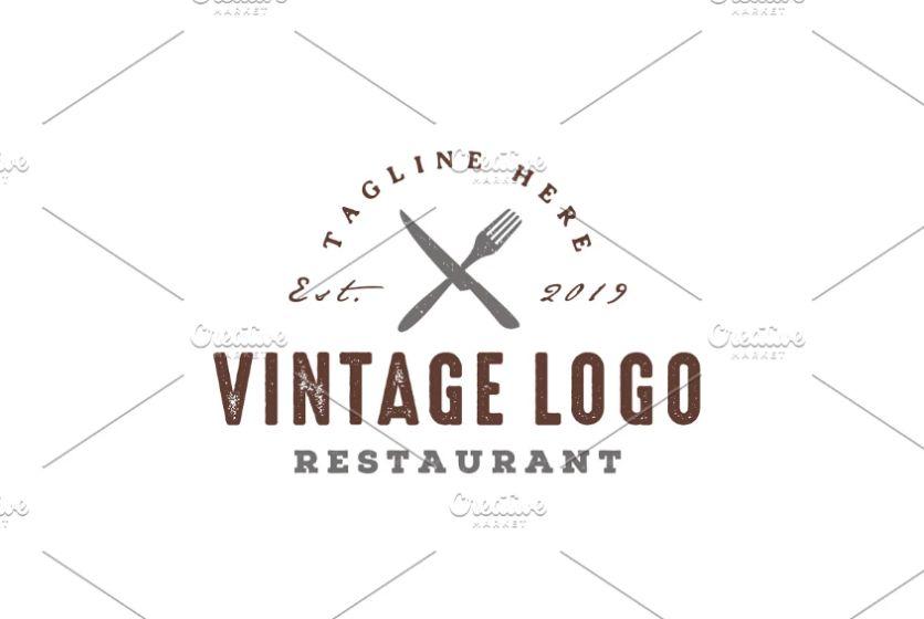 Vintage Restaurant Branding Logo