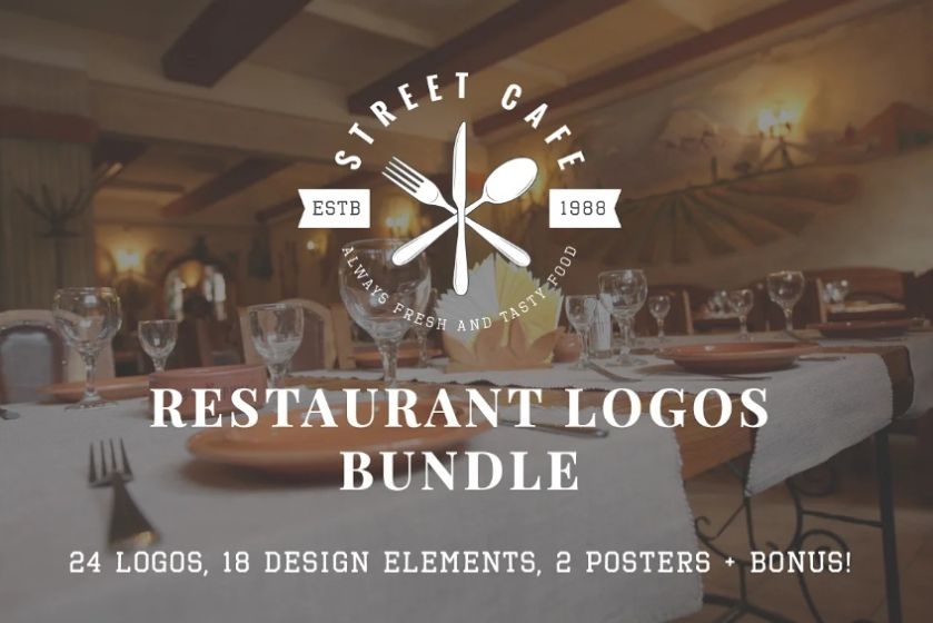 Vintage Restaurant Logos Bundle