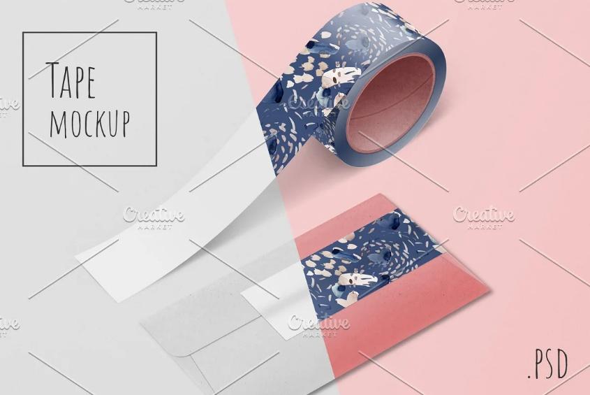 Washi Tape Mockup PSD