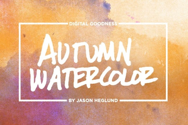 Watercolor  Background for Scrapbooking