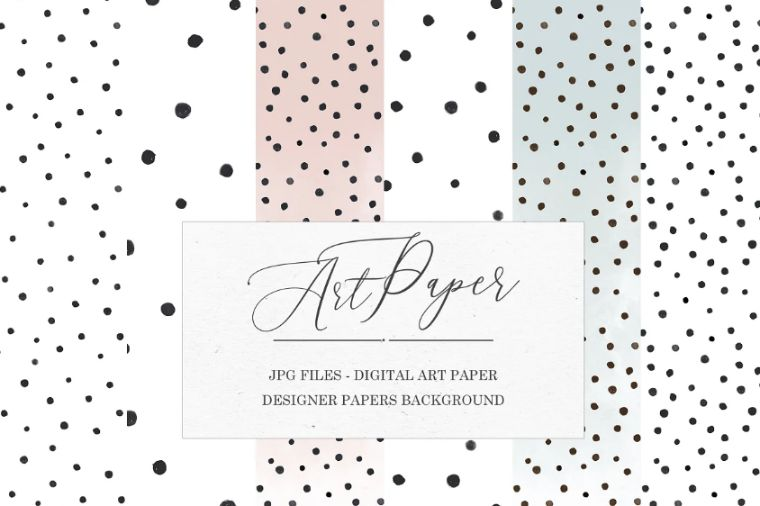 Watercolor Dot Backgrounds