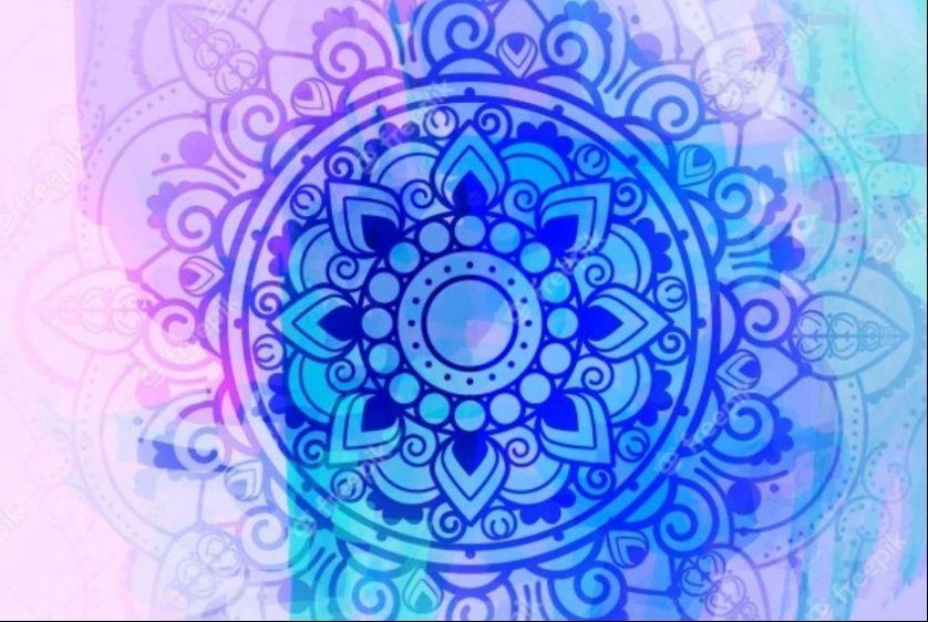 Watercolor Mandala Background