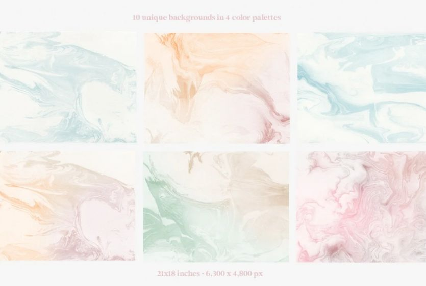 Watercolor Marble Texture Design