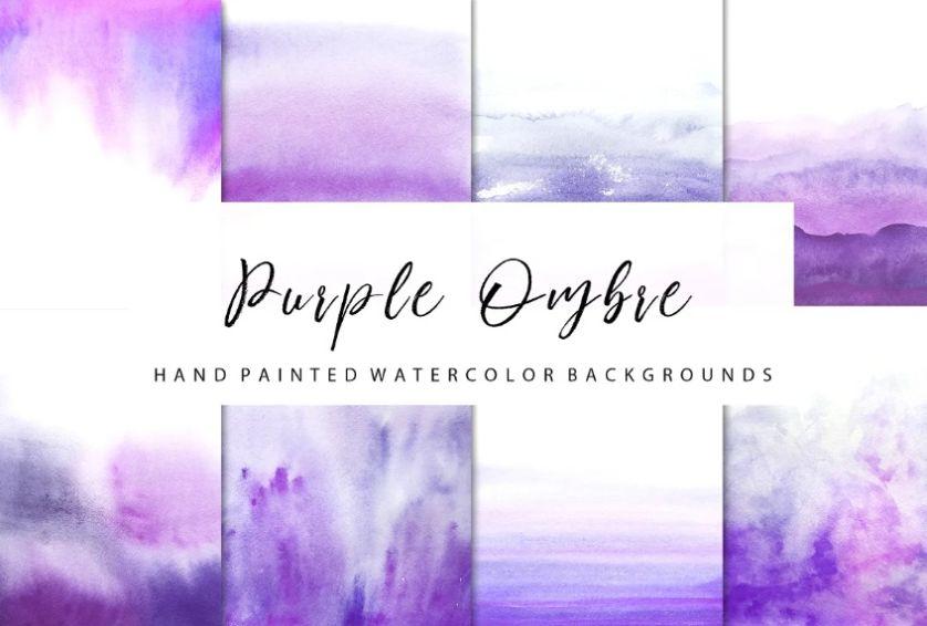 Watercolor Purple Textures