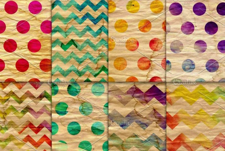 Watercolor Style Polka backgounds