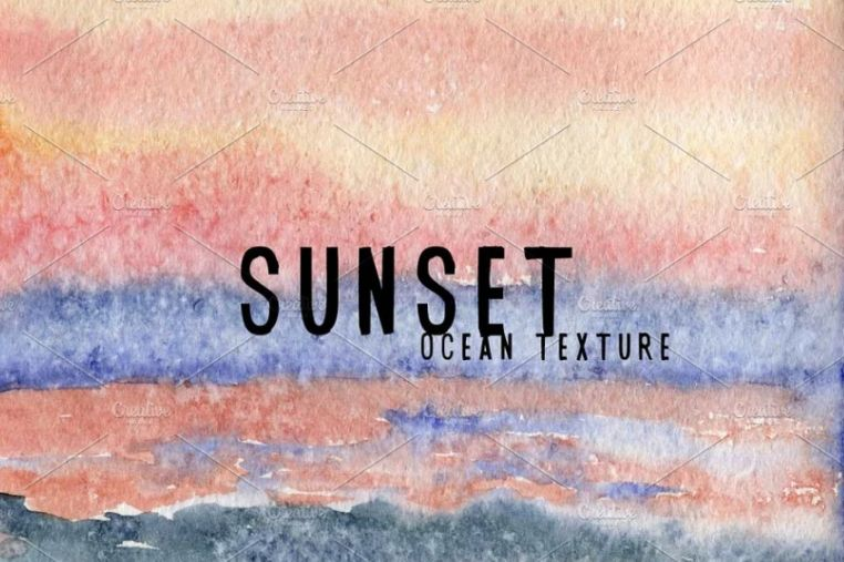 Watercolor Sunset Backgrounds
