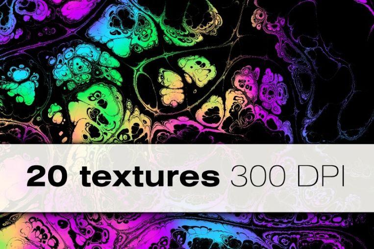 Wavy Acid Color Backgrounds