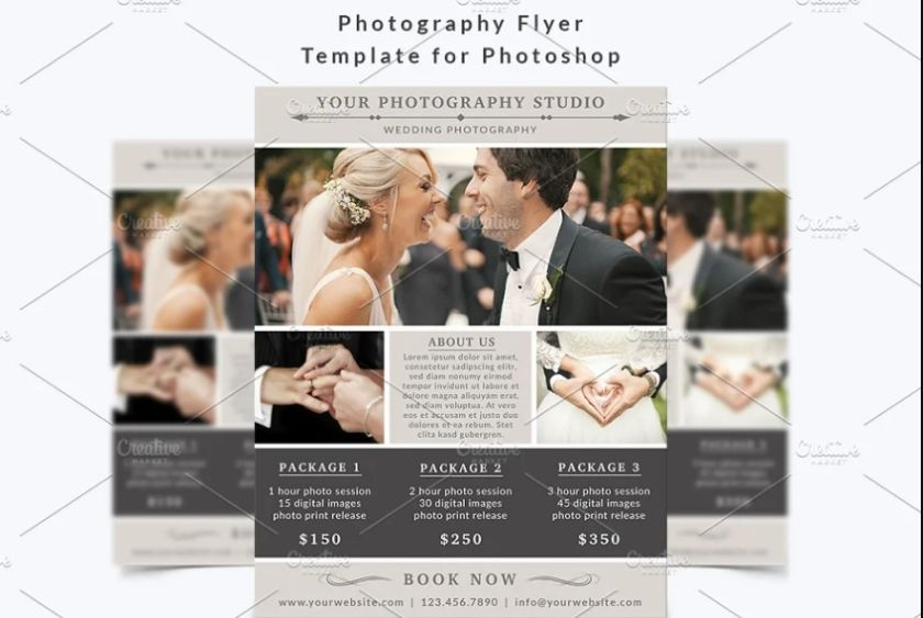 Wedding Photographer Advert Flyer