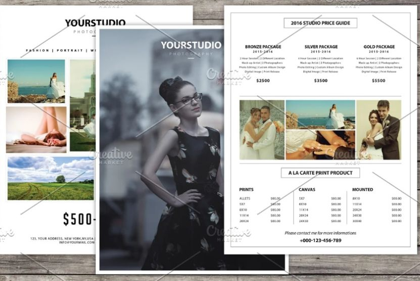 Wedding Photographer Pricing Guide Flyer