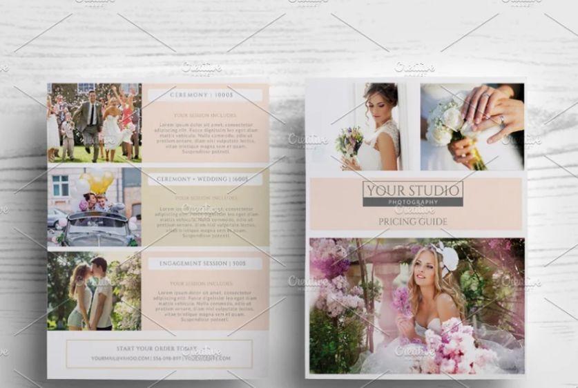 Wedding Photographer Pricing List Flyer