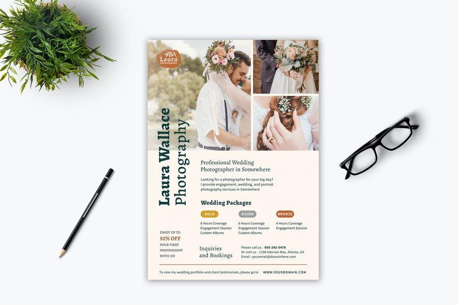 Wedding Photography Ad Flyer