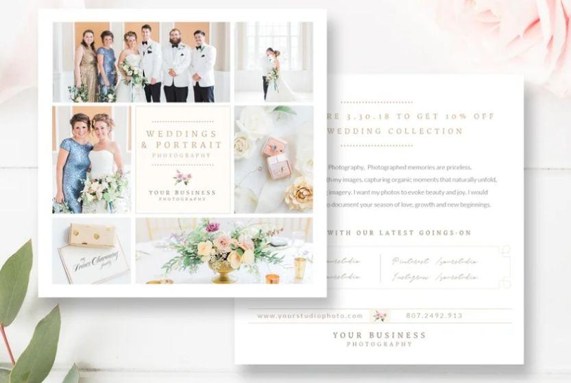 Wedding Photography Marketing Flyer Template