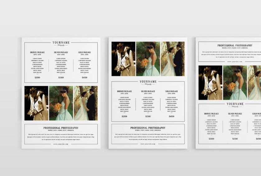 Wedding Photography Pricing Flyer
