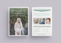 Wedding photography flyer template