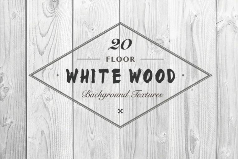 White Wood Floor Wallpapers