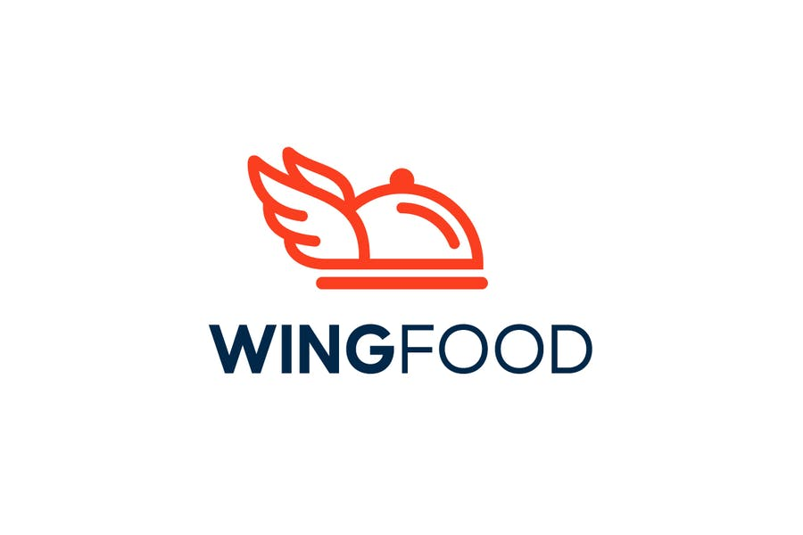 Wings Style Food Service Logo