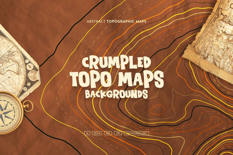Wrinkle Topography Backgrounds