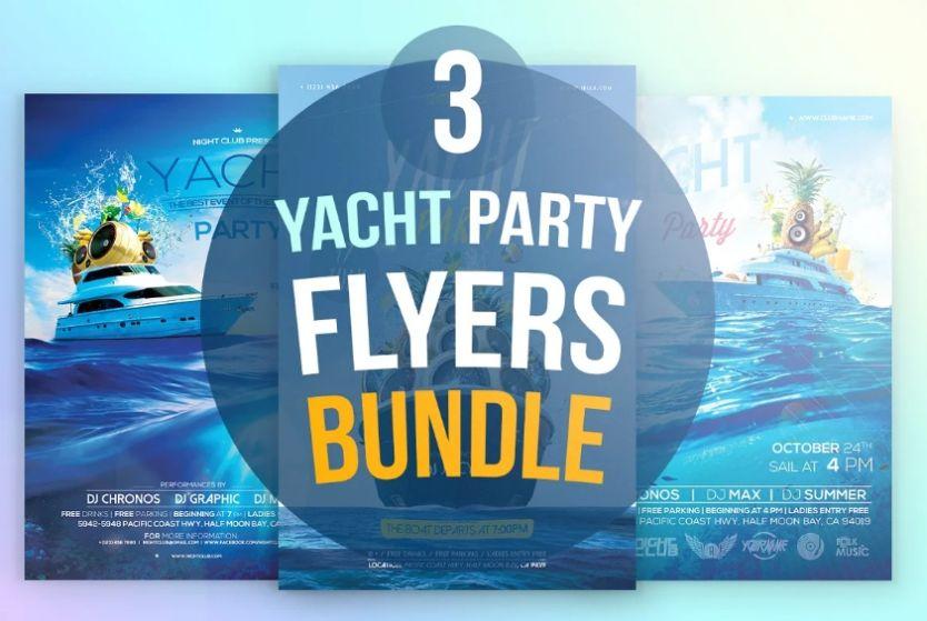 Yacht Party Flyers Bundle