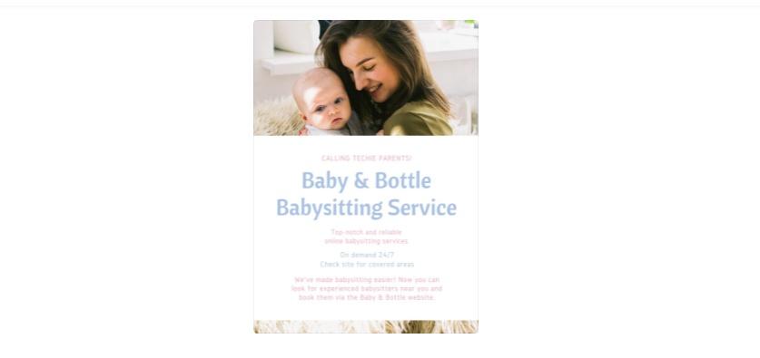babysitting Services Flyer