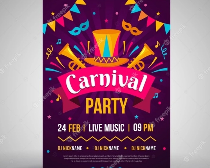 carnival Party Flyer Free Download