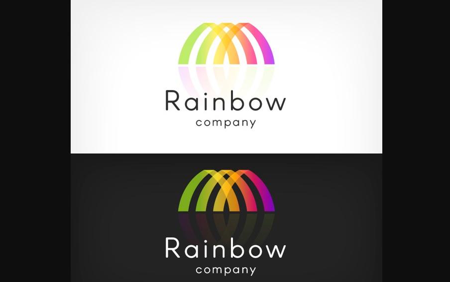 free Rainbow Company Logo