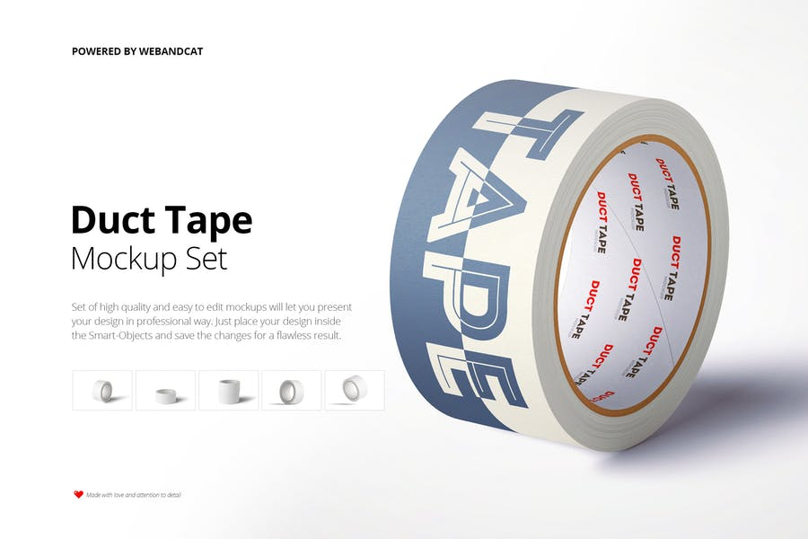 high Quality Paper Tape Mockups