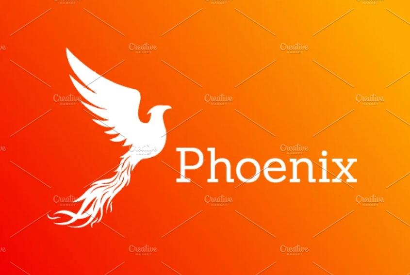 isolated Phoenix Logo Design