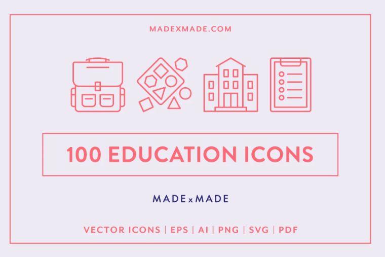 100 Eduacation Icons Set
