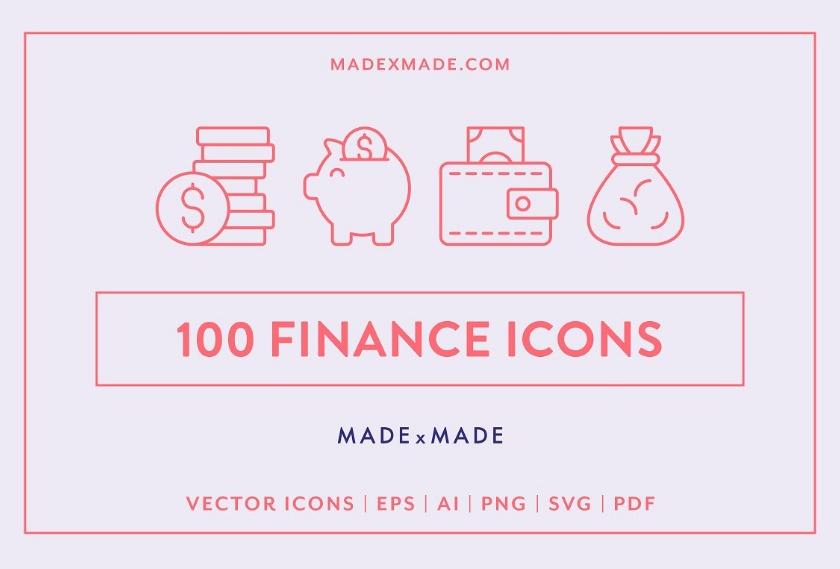 100 finance Icons