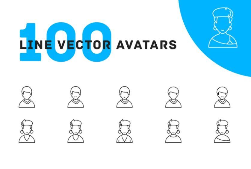 100 Unique Line Vector Icons