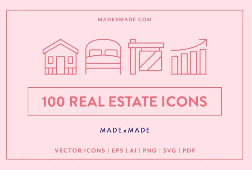 100 Unique Real Estate Icons