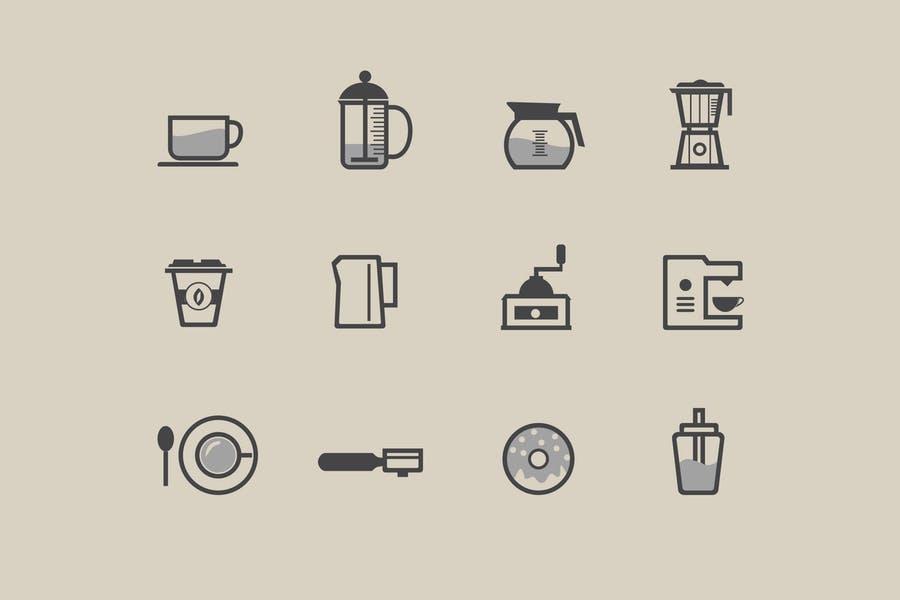 12 Coffee Icons and Symbols