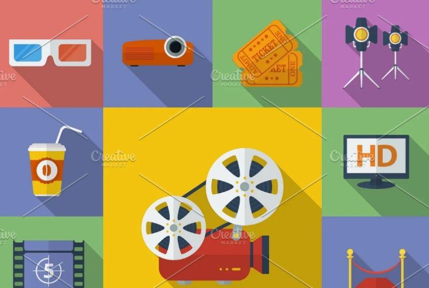 13 Cinema Icons Set